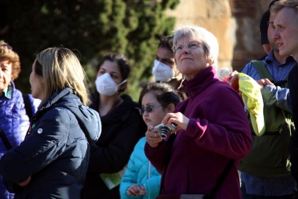 Un grup de turistes a Barcelona a principis del passat mes de març.
