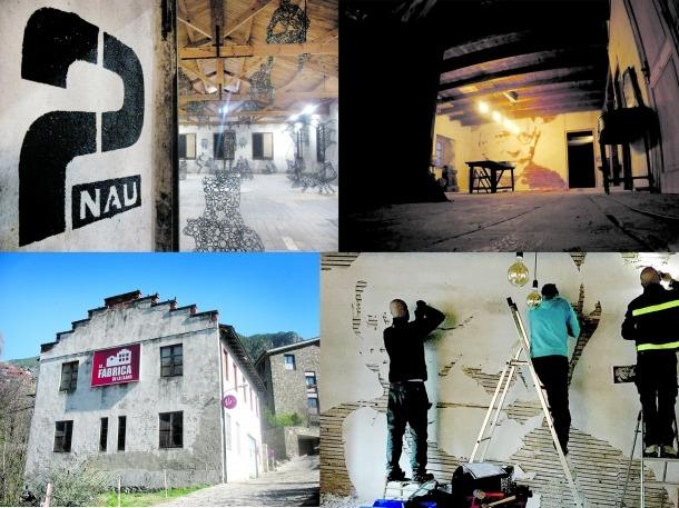 Andorra, land art, Pere Moles, fàbrica de llanes, Escaldes, Toni Cruz, art factory, Carroi, tartera, S