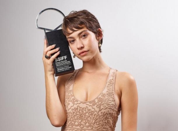 L'actriu catalana, amb la Concha de Plata a la millor actriu que va rebre al desembre per la seva interpretació a 'La hija de un ladrón'.
