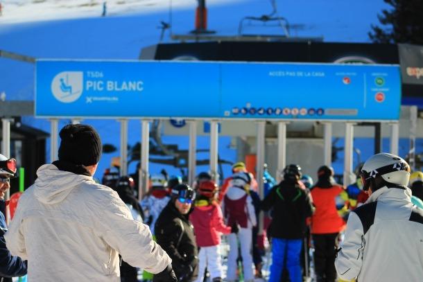 Grandvalira/ Esquiadors a Grandvalira en una imatge d'aquest dijous.
