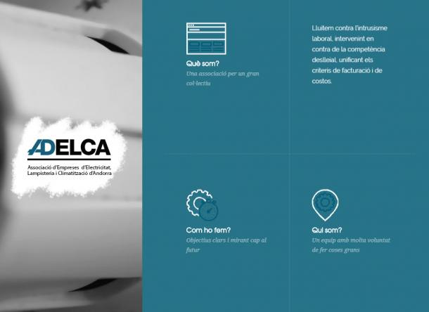 Captura del web d'Adelca.