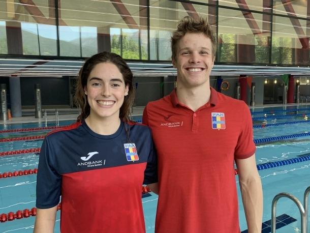 Els nedadors de la FAN, Nàdia Tudó i Bernat Lomero.