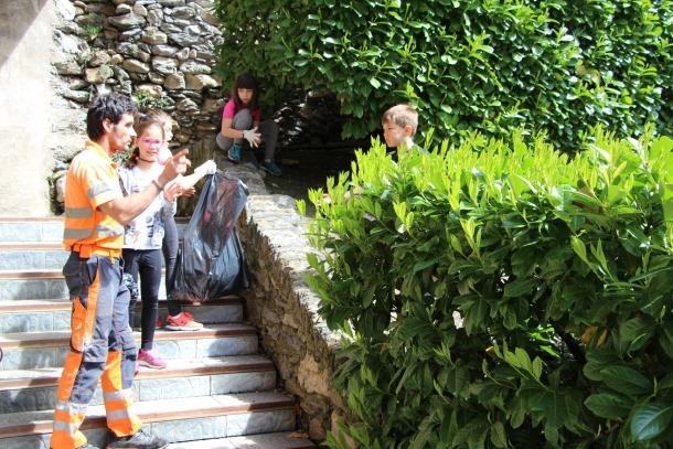 Un dels grups dels alumnes de l'Escola Andorrana d'Ordino.