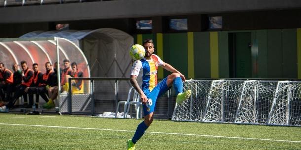 Jilmar Torres, amb l'FC Andorra.