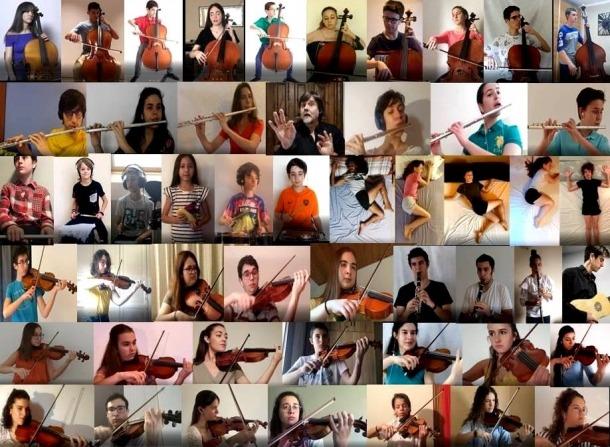 El mig centenar d'artistes que han participat a 'Jonca en dansa'.