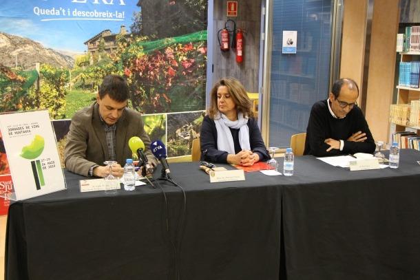 Enric Torres, director de Producte i Nous Projectes; Meritxell Teruel, consellera de Turisme, i Pep Palau, codirector de Vonarend & Associats