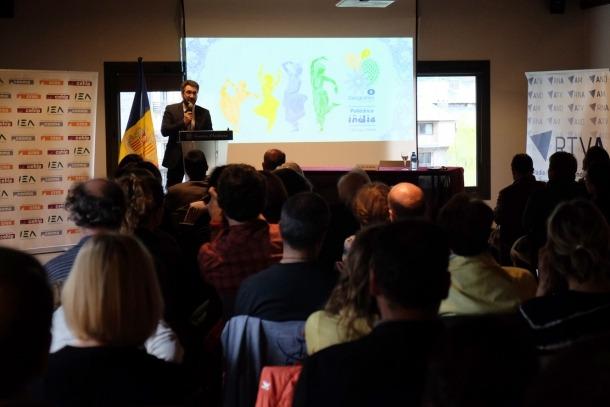 ANA/ El ministre d'Educació, Ensenyament Superior i Recerca, Eric Jover, durant una intervenció al cicle Geografies.