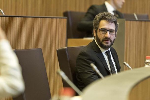 El ministre de Finances, Eric Jover, a la sessió del Consell General d'avui.