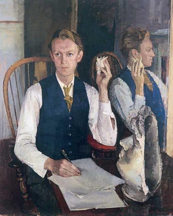 Kirkup, als anys 50, segons un retrat de Maurice de Sausmarez.