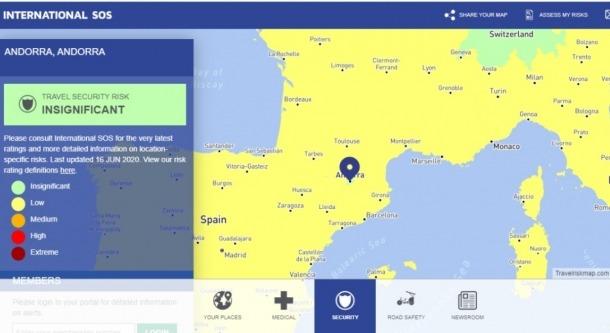 El mapa de riscos 2020 de SOS Internacional.