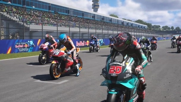 Imatge de la sortida virtual al GP d'Espanya.