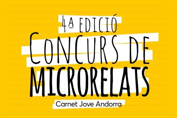 Carnet Jove Andorra/ El cartell de la 4a edició del Concurs de microrelats.