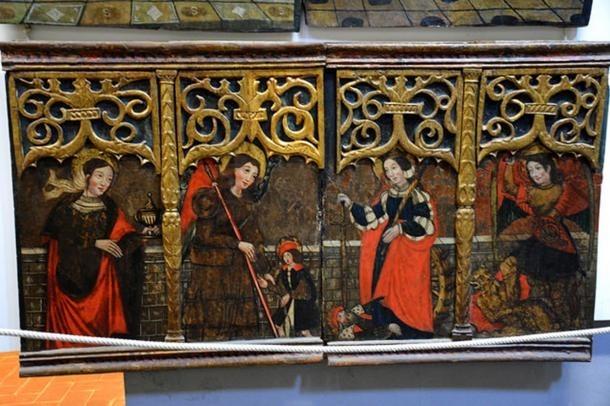 Detall de la predel·la del retaule de l'Anunciació de la Pobleta de Bellveí.