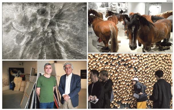 Els quatre pavellons d'Andorra a la Biennal, obra de Francisco Sánchez (2011), Javier Balmaseda (2013), Joan Xandri (2015) i Eve Ariza (2017).