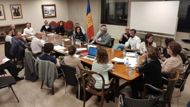 Un instant de la reunió del comitè de seguiment del coronavirus.