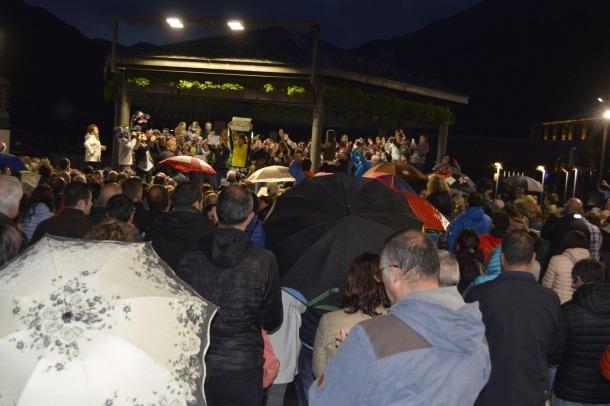 Concentració de rebuig als actes de violència policial viscuts a Catalunya