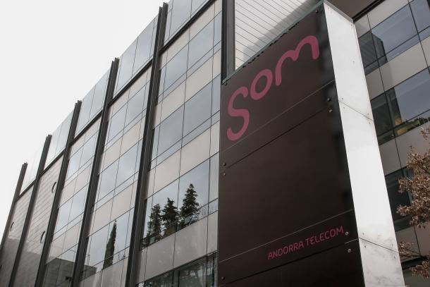 Instal·lacions d'Andorra Telecom a Santa Coloma.