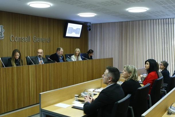 Un moment de la compareixença del titular de Salut davant la comissió legislativa de Sanitat.