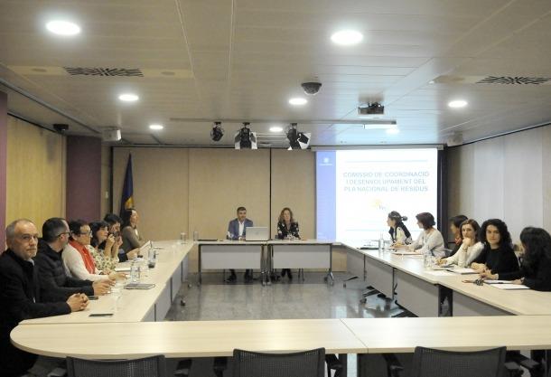Un moment de la reunió de la comissió de coordinació i desenvolupament del Pla Nacional de Residus que va tenir lloc ahir.