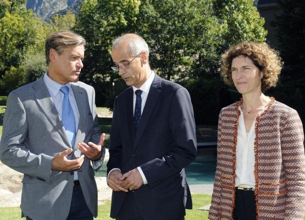 López Aguilar amb Martí i Ubach abans del dinar que van compartir.