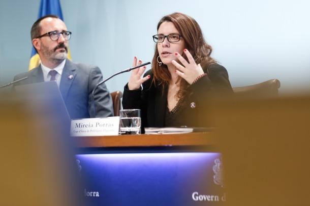 Filloy i Porras van comparèixer ahir al matí per fer balanç del Servei d'atenció a les víctimes de violència de gènere.