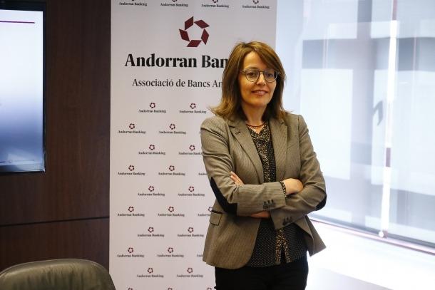 La directora general d'Andorran Banking, Esther Puigcercós, en una compareixença anterior.