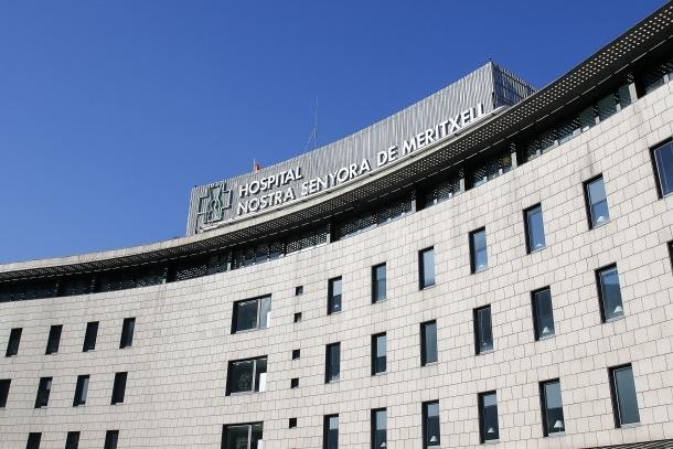 La façana de l'Hospital Nostra Senyora de Meritxell.