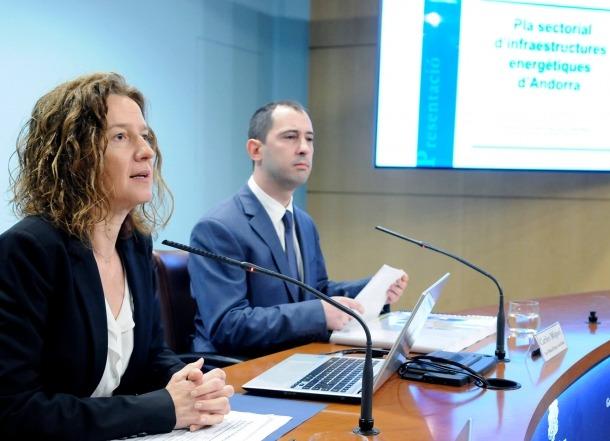 Un moment de la presentació del Pla sectorial d'infraestructures energètiques d'ahir.
