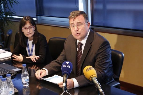 El president de la comissió gestora del Fons de Reserva de Jubilació, Josep Delgado, en una compareixença anterior.
