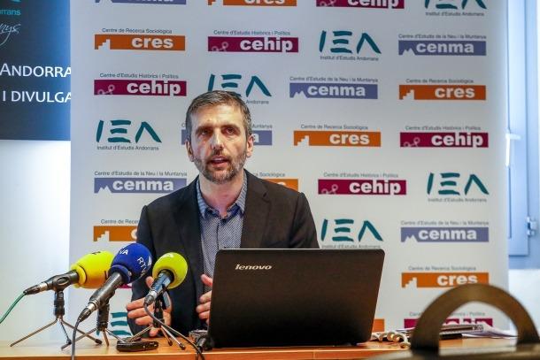 Joan Micó, director del CRES, presentant els resultats de l'Observatori del primer semestre del 2019, ahir.