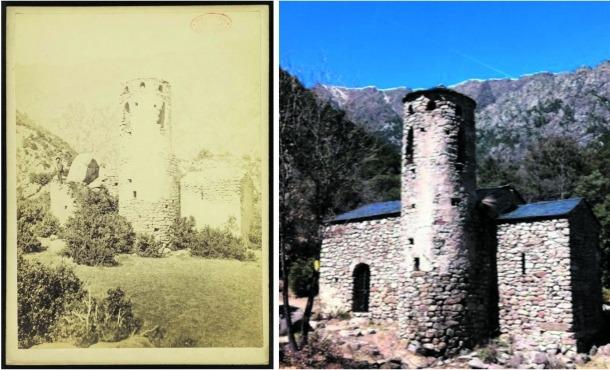 Una aportació documental de la feina dels experts: la foto més antiga de Sant Vicenç, feta el 1880 per Brutails i trobada per Poisson.