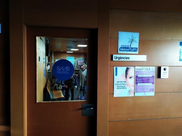 Vista de l'entrada a la sala d'espera del servei d'urgències.