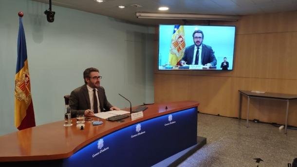 El ministre portaveu, Eric Jover, en la compareixença d'ahir a la tarda.