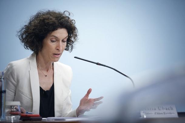 La ministra Maria Ubach.