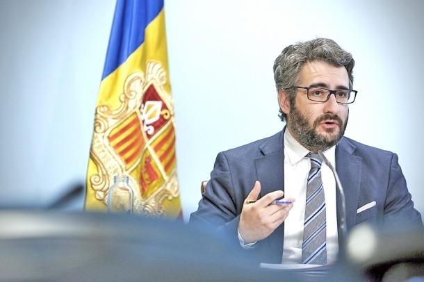 El ministre de Finances, Eric Jover, en una compareixença.