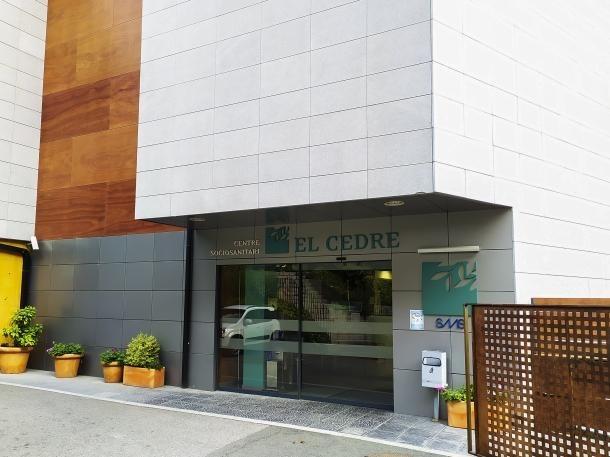 Vista de l'entrada del centre sociosanitari d'El Cedre.
