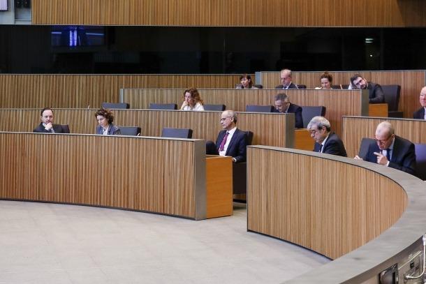 Un moment de la sessió del Consell General d'ahir.