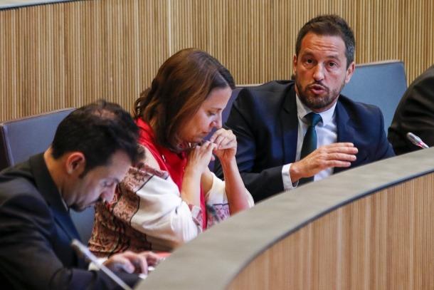 El conseller general Pere López va defensar la reserva d'esmena del PS.
