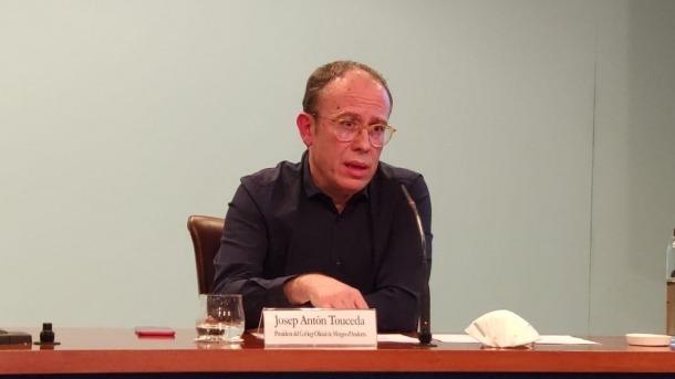El president del Col·legi de Metges, Josep Antón Touceda.