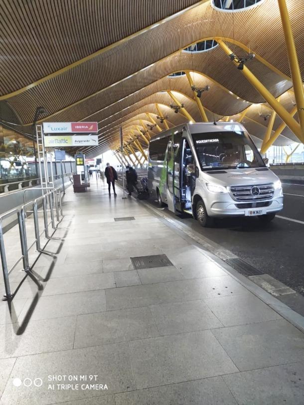 Moment de l'arribada dels temporers a Madrid, diumenge passat.