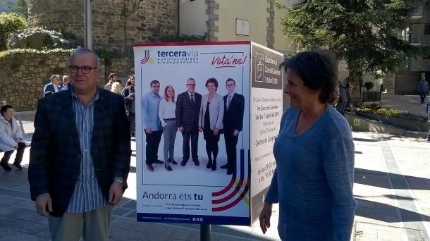 El tàndem electoral de Terceravia a Andorra la Vella, Emi Matarrodona i Joan Antoni Préstamo.