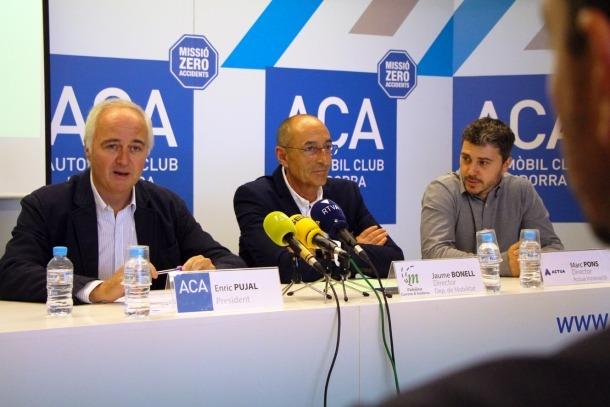 Enric Pujal, Jaume Bonell i Marc Pons, ahir en la presentació de l'IMACA 2018.
