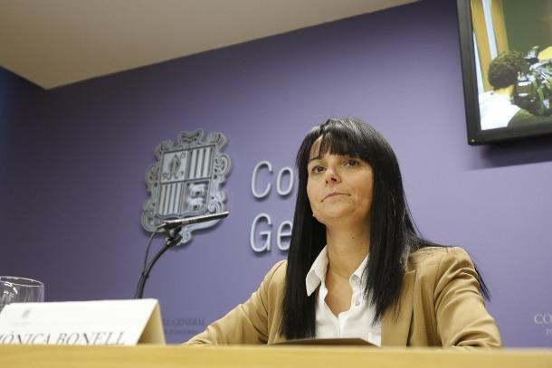 La subsíndica general, Mònica Bonell, en una compareixença anterior.