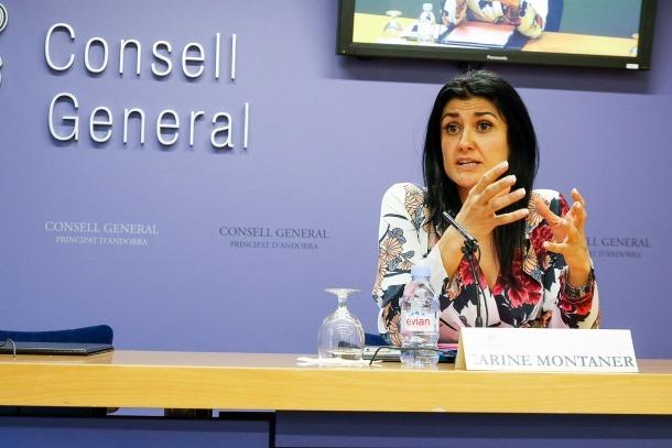 La consellera general de UL-ILM, Carine Montaner, va presentar ahir la proposició de llei per modificar la Llei de la CASS.