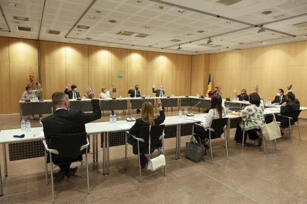 Un moment de la sessió del consell al Centre de Congressos, ahir a la tarda.