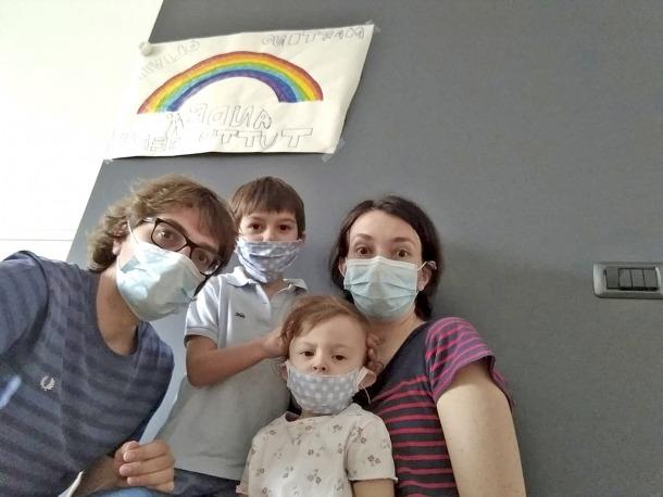 Xavier Rechi amb la seva família.
