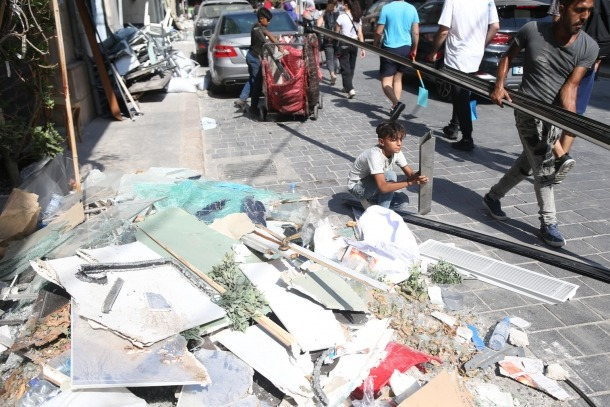 Així han quedat els carrers de Beirut després de les explosions.