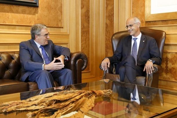 Ros i Martí al despatx del cap de Govern.
