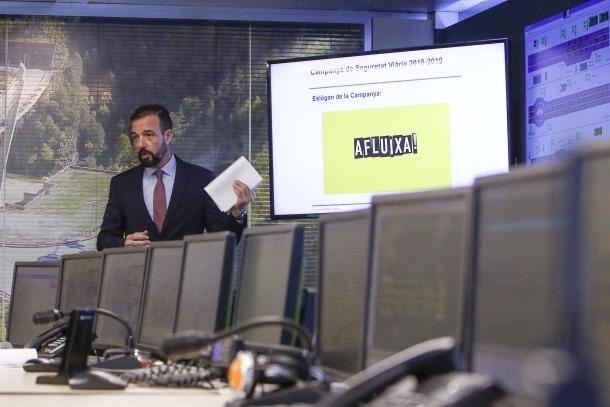 """La nova campanya """"Afluixa, la velocitat mata"""" es va presentar ahir al Centre Nacional de Trànsit."""