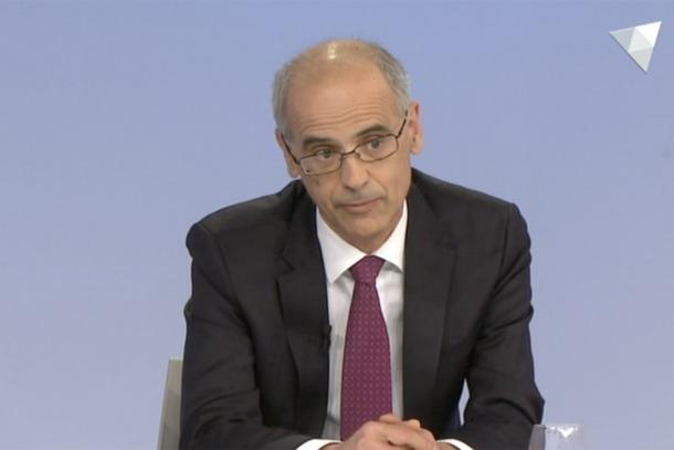 El cap de Govern, Antoni Martí, en un moment de la seva intervenció d'ahir a 'La Rèplica'.